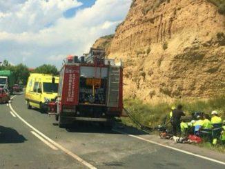 Un fallecido y cuatro heridos en el accidente de un camión cerca de Zalamea de la Serena (Badajoz),