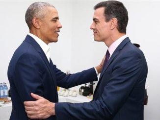 Pedro Sánchez y Barack Obama analizan en Sevilla los retos que afrontan los jóvenes en el mundo actual,