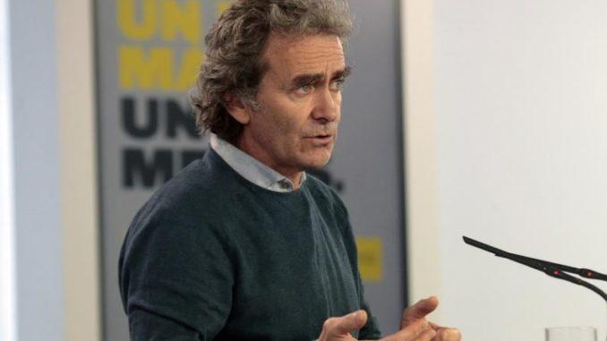 El director del Centro de Alertas y Emergencias Sanitarias, Fernando Simón, comparece en rueda de prensa por la pandemia del coronavirus. En Madrid (España), a 8 de mayo de 2020. - Moncloa
