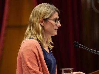 La concejala del Ayuntamiento de Barcelona Elsa Artadi, durante su intervención en el pleno del Parlamento de Cataluña. - David Zorrakino - Europa Press - Archivo