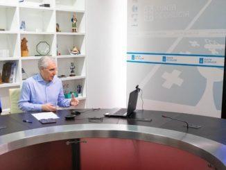 Francisco Conde se reúne de forma telemática con el comité de Alcoa San Cibrao - XOÁN CRESPO