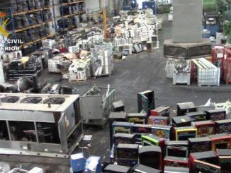 Cinco detenidos en una empresa de Sevilla dedicada al reciclaje electrónico,