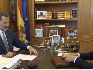 Felipe VI y Sánchez participan en Badajoz en el acto de reapertura de frontera entre España y Portugal,