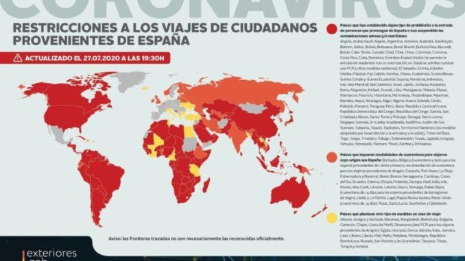 gráfico restricciones para España