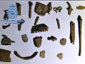 Detienen en Badajoz a tres personas por expoliar yacimientos arqueológicos,