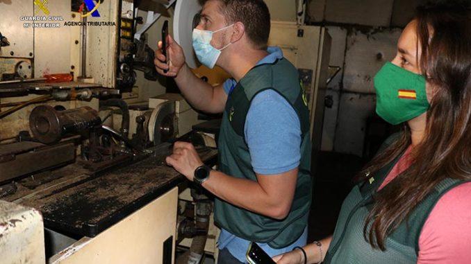 Desmantelan una fábrica clandestina de tabaco destinado a diversos países europeos,