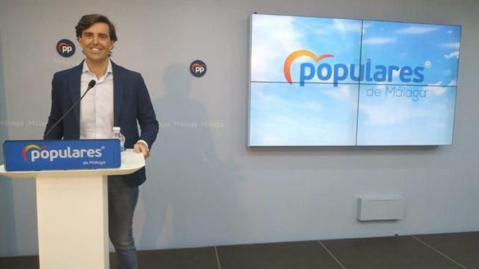 El vicesecretario de Comunicación del PP, Pablo Montesinos, ofrece una rueda de prensa en Málaga - EUROPA PRESS