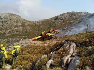 Muere uno de los dos heridos en el accidente del hidroavión de Lobios en Ourense,