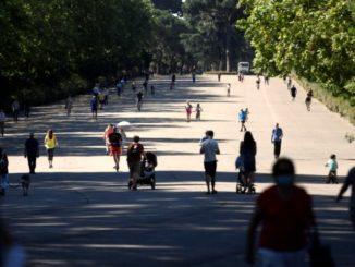 El Retiro y otros 8 parques de Madrid restringen acceso a zonas infantiles y de mayores por viento,
