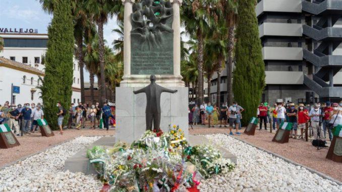 Acto en recuerdo del asesinato de Blas Infante. - EDUARDO BRIONES (EUROPA PRESS)