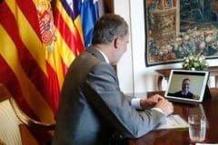 """El alcalde de Palma manifiesta al Rey la """"complicada situación económica"""" de la ciudad, que ha triplicado ayudas por el covid,"""