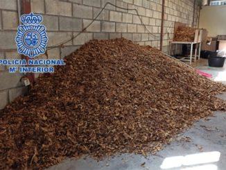 Desmantelada una organización dedicada a la venta de picadura de tabaco a domicilio a través de paquetería,
